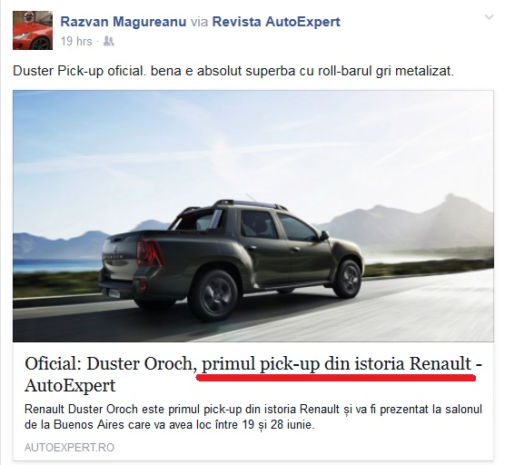 Renault pick-up