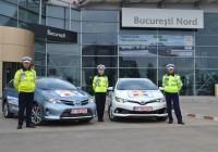 Brigada de Poliție Rutieră București  echipată cu 2 unități Toyota Auris Hybrid